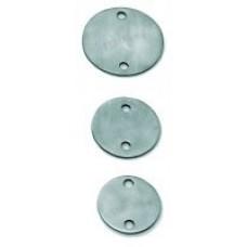 Edelstahlronden mit 2 Außenbohrungen à 11 mm
